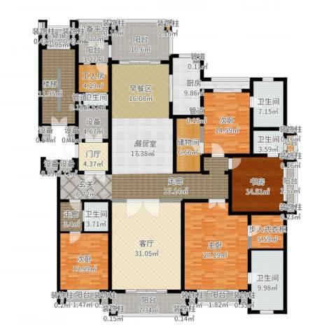 荣禾曲池东岸4室1厅5卫1厨341.00㎡户型图