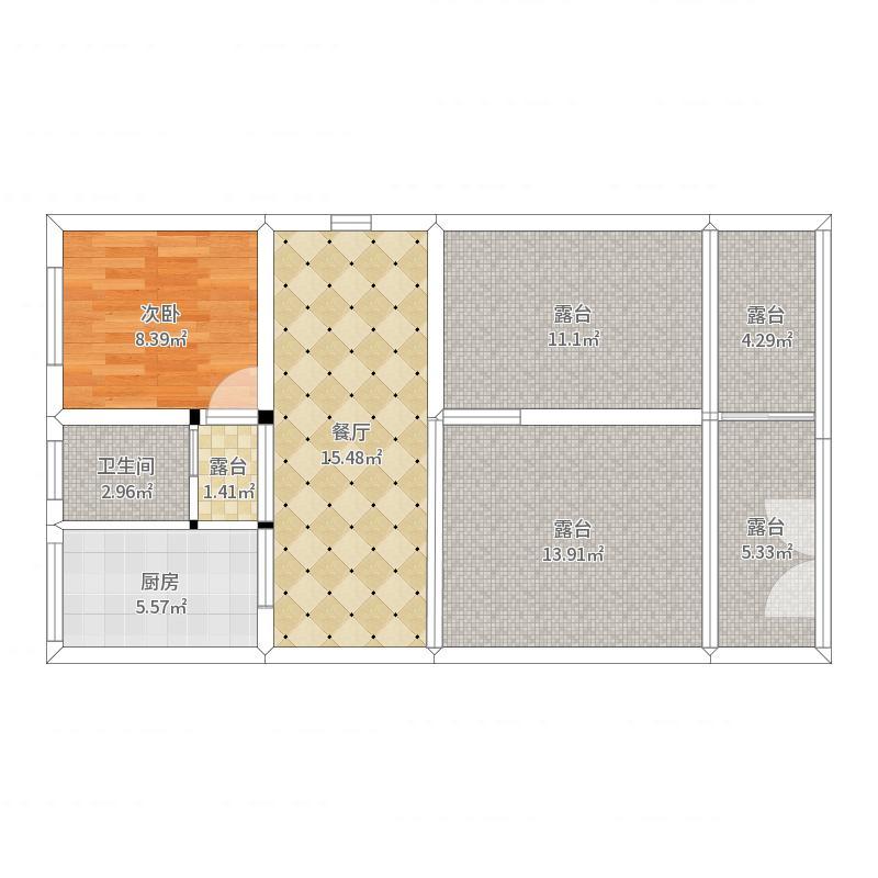 自建房3层半别墅6.7米*12米-副本户型图