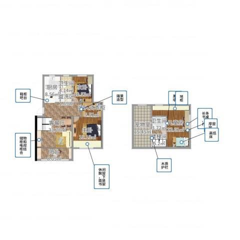 慧缘馨村3室2厅2卫1厨172.00㎡户型图