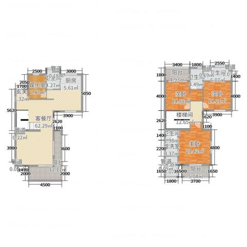 保利海陵岛3室2厅4卫0厨190.00㎡户型图