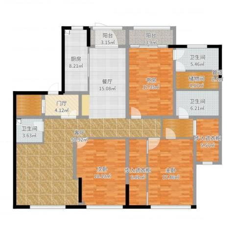 荣兴云天3室1厅3卫1厨202.00㎡户型图