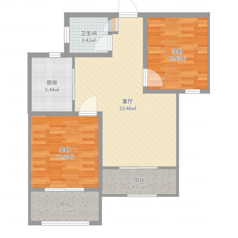 翰澜苑94平米户型图