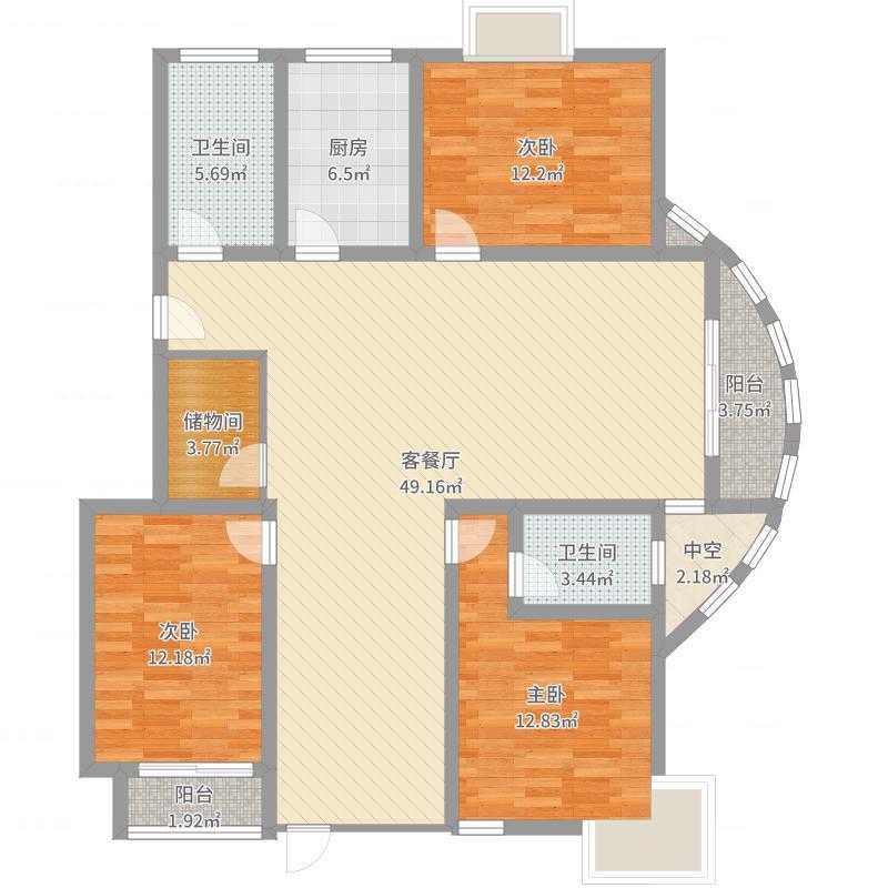 随园锦湖公寓户型图