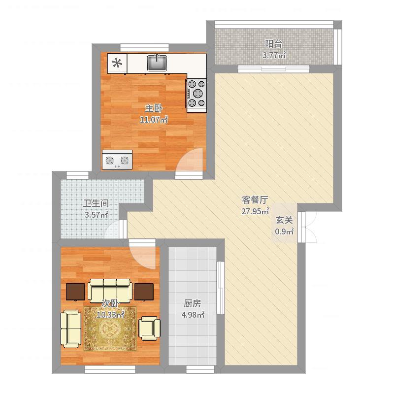 上海市-庄南小区-设计方案户型图