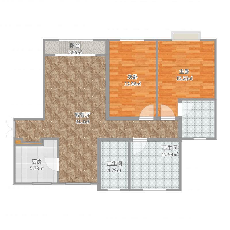 天津武清-远洋香奈125㎡高层-YSK026户型图