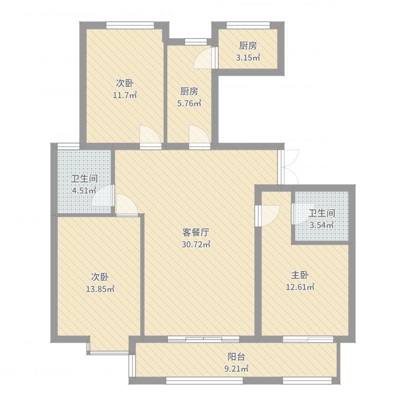 廊坊_春辉时代金第_2017-06-29-1607户型图