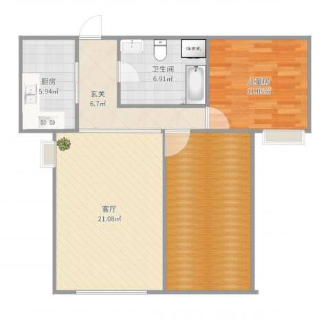 维多利亚广场c7-021室1厅1卫1厨85.00㎡户型图