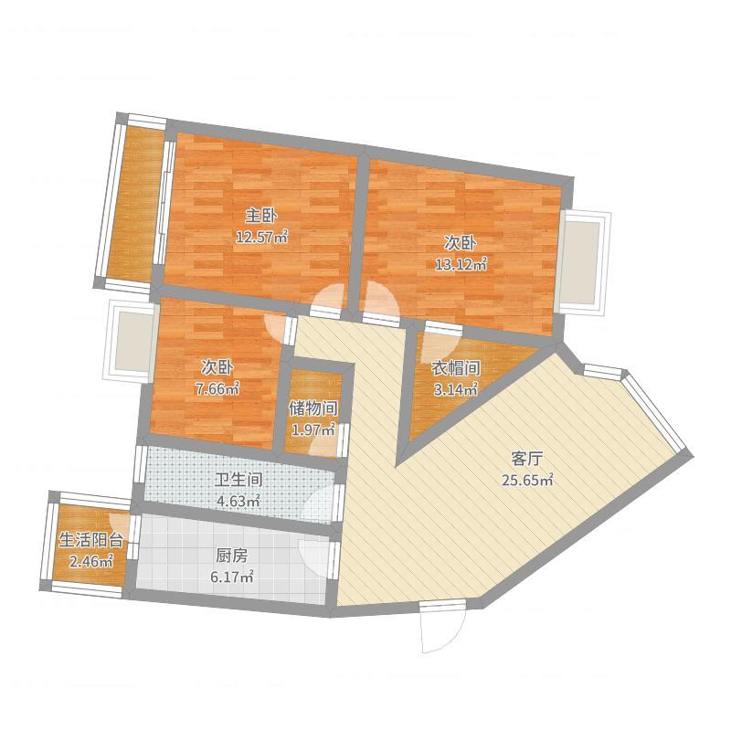 园丁小区6栋1单元4-10户型图