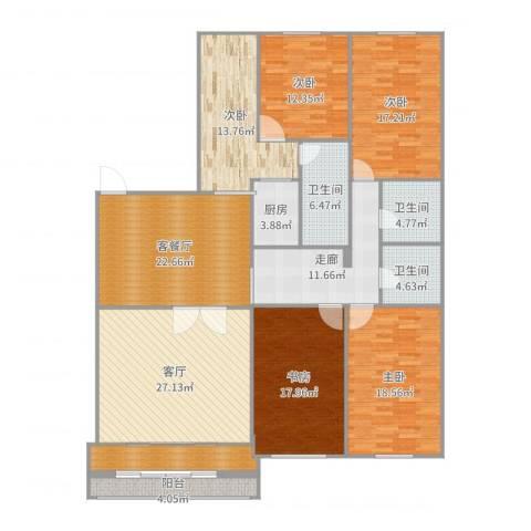 翠微西里小区8号5室3厅3卫1厨213.00㎡户型图