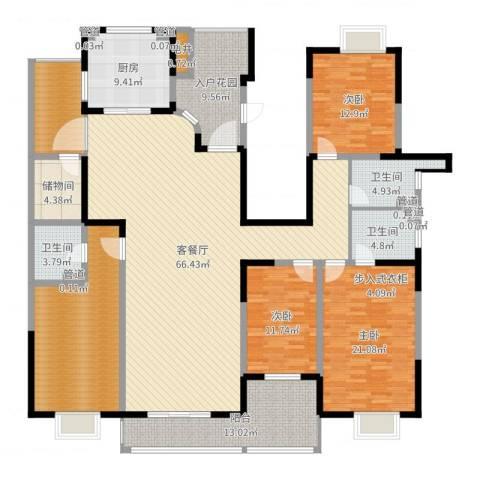 九锦台3室2厅3卫1厨237.00㎡户型图