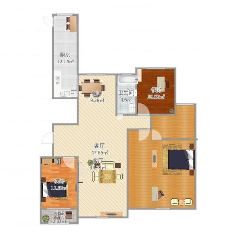 高新城市广场2室1厅1卫1厨159.00㎡户型图