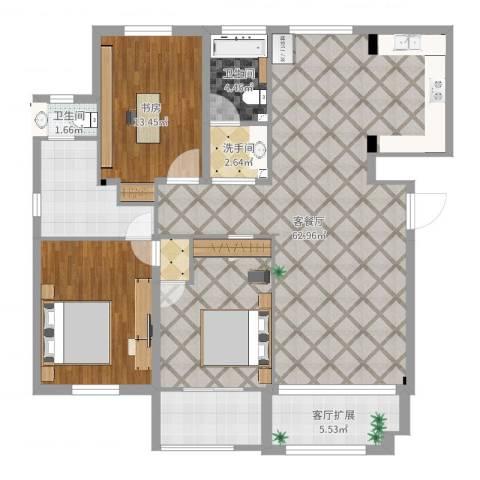 中远欧洲城1室2厅2卫3厨147.00㎡户型图