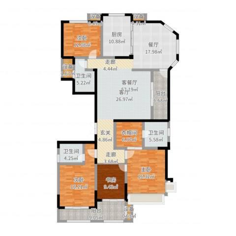 建东・悦海湾4室2厅3卫1厨203.00㎡户型图