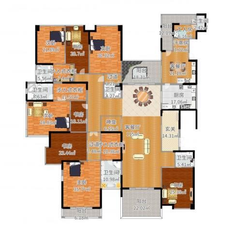 龙泉豪苑8室4厅6卫1厨646.00㎡户型图