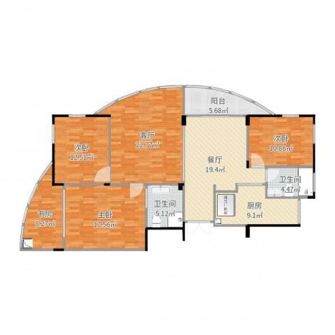 星星港湾春江苑4室2厅2卫1厨145.00㎡户型图