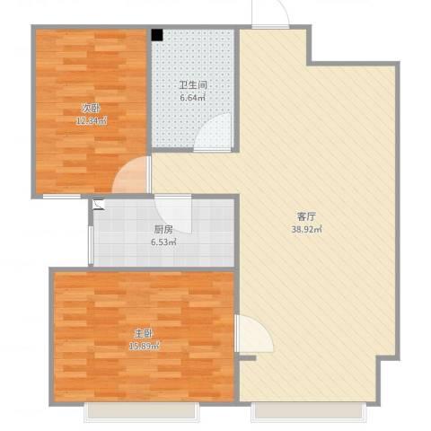 金润华府301室2室1厅1卫1厨100.00㎡户型图