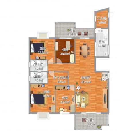 新景5.84室2厅2卫1厨186.00㎡户型图