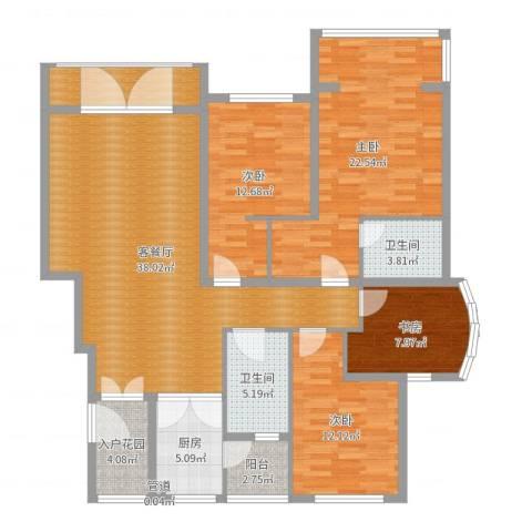 帝景观澜4室2厅2卫1厨149.00㎡户型图