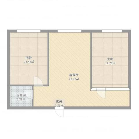 九豪富贵山庄2室2厅1卫0厨78.00㎡户型图