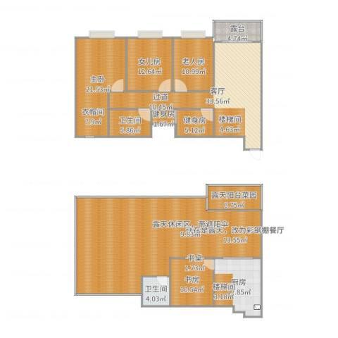 清河苑3室1厅2卫1厨252.00㎡户型图