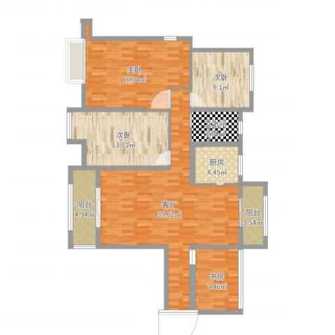 香颂小镇4室1厅1卫1厨127.00㎡户型图