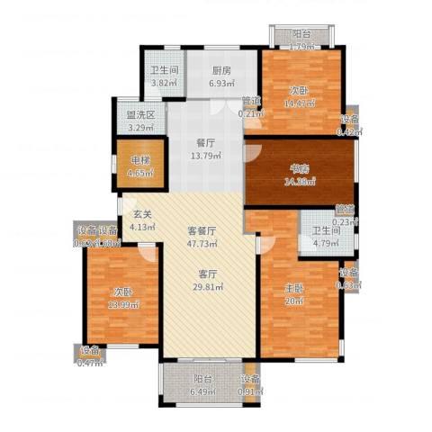 浅水湾恺悦名城4室2厅2卫1厨183.00㎡户型图