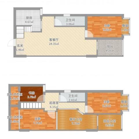 华宁瑞城4室2厅4卫2厨111.00㎡户型图