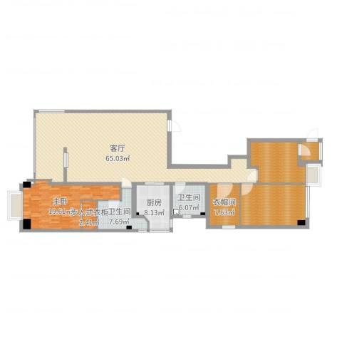 御翠园1室1厅5卫2厨184.00㎡户型图