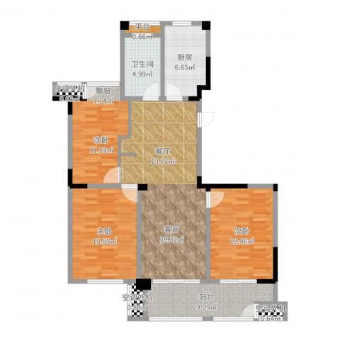 合峰汇2室1厅1卫1厨113.00㎡户型图
