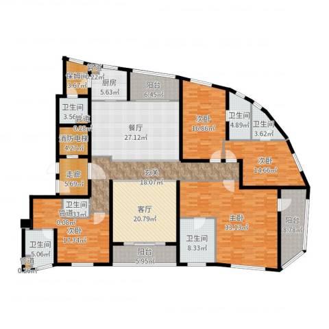 徐汇中凯城市之光4室2厅6卫1厨271.00㎡户型图