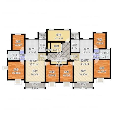 南方国际广场2期6室4厅2卫2厨224.00㎡户型图