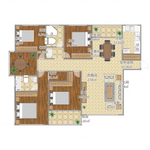 东湖大郡二期4室1厅2卫1厨210.00㎡户型图