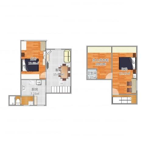 海滨三村2室1厅1卫1厨89.00㎡户型图