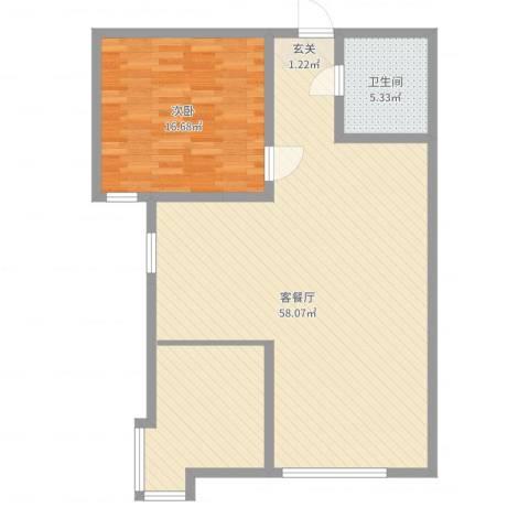 海旺家园二期1室2厅1卫0厨100.00㎡户型图
