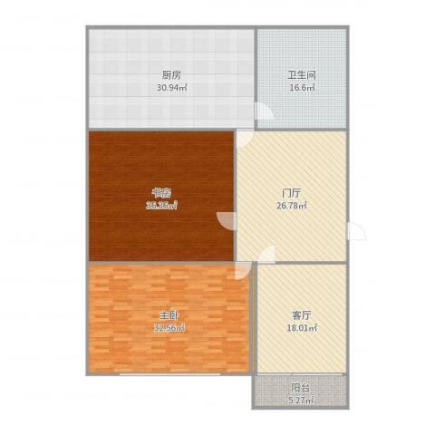 新世纪阳光花园2室1厅1卫1厨207.00㎡户型图