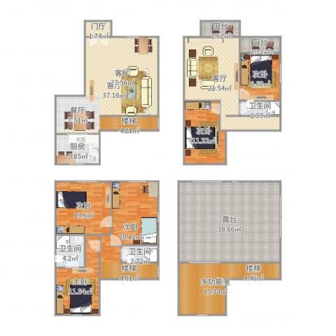 保利外滩花园别墅5室2厅3卫1厨251.00㎡户型图
