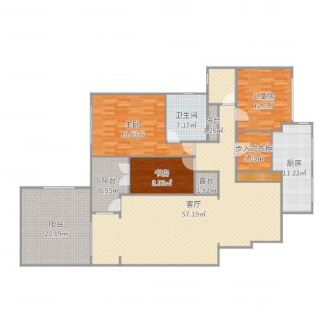 金地三千府2楼3室1厅1卫1厨190.00㎡户型图