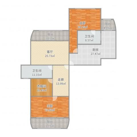 新外滩花苑2室1厅2卫1厨211.00㎡户型图