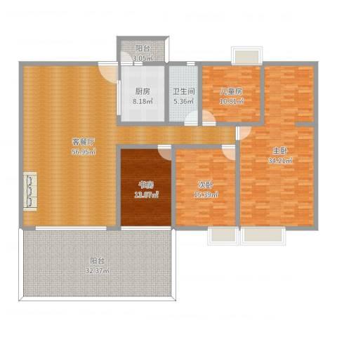 碧桂园凤凰城凤锦苑4室2厅1卫1厨224.00㎡户型图