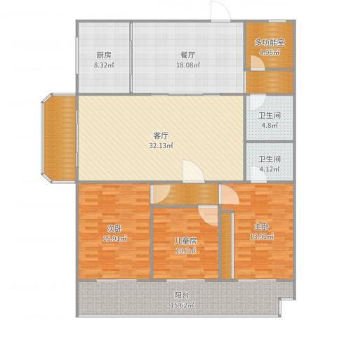 花园北路35号3室2厅2卫1厨178.00㎡户型图