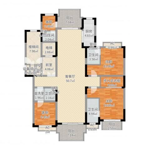 银河湾紫苑4室2厅4卫1厨189.00㎡户型图