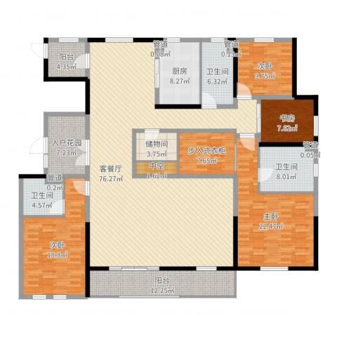 姑苏金茂府4室2厅3卫1厨249.00㎡户型图