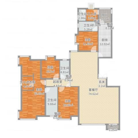 新世界花园湾景华庭4室2厅4卫1厨253.00㎡户型图