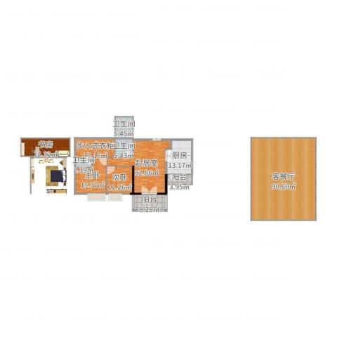 南昌雅颂居3室2厅3卫1厨269.00㎡户型图