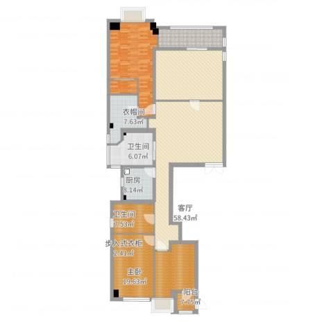 御翠园1室1厅5卫2厨185.00㎡户型图