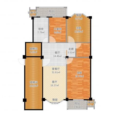 朝阳星苑3室2厅0卫1厨150.00㎡户型图