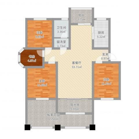 和源壹号公馆4室4厅1卫1厨133.00㎡户型图