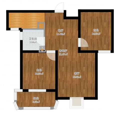 同美中央生活区2室2厅1卫0厨78.00㎡户型图