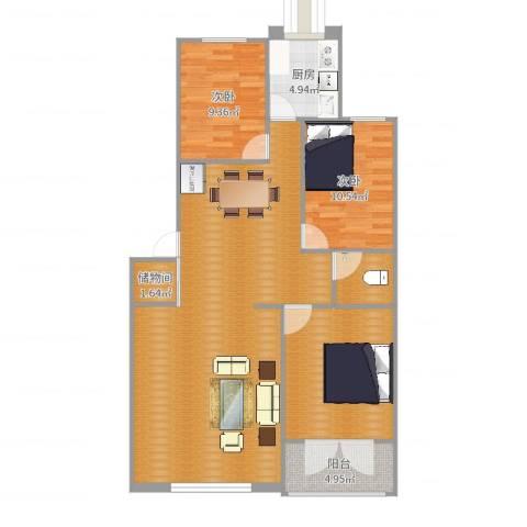 向阳家园2室0厅0卫1厨120.00㎡户型图