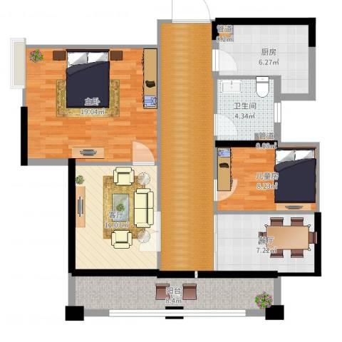 伴山壹品2室2厅1卫1厨102.00㎡户型图